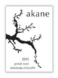 Akane Pinot Noir Sonoma County 2015 750ML Label
