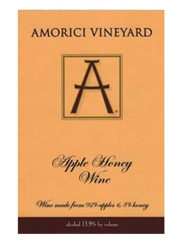 Amorici Vineyard Apple Honey Wine Hudson Valley 750ML Label