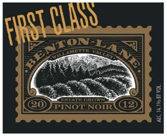 Benton-Lane First Class Pinot Noir Willamette Valley 2012 750ML Label