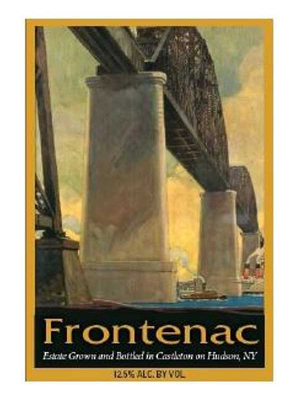Brookview Station Winery Frontenac 750ML Label