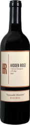 Hidden Ridge Cabernet Sauvignon Impassable Mountain Reserve 55% Slope Sonoma County 2007 750ML Bottle
