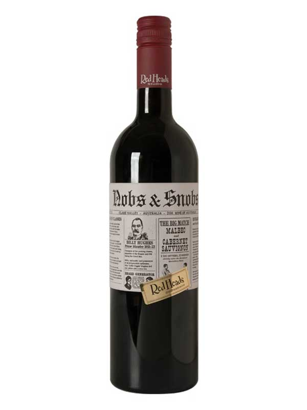 RedHeads Studios Nobs & Snobs Malbec/Cabernet Sauvignon Clare Valley 750ML Bottle