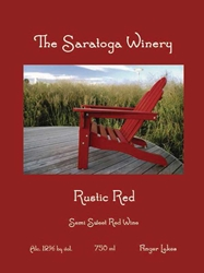 Saratoga Winery Rustic Red 750ML Label