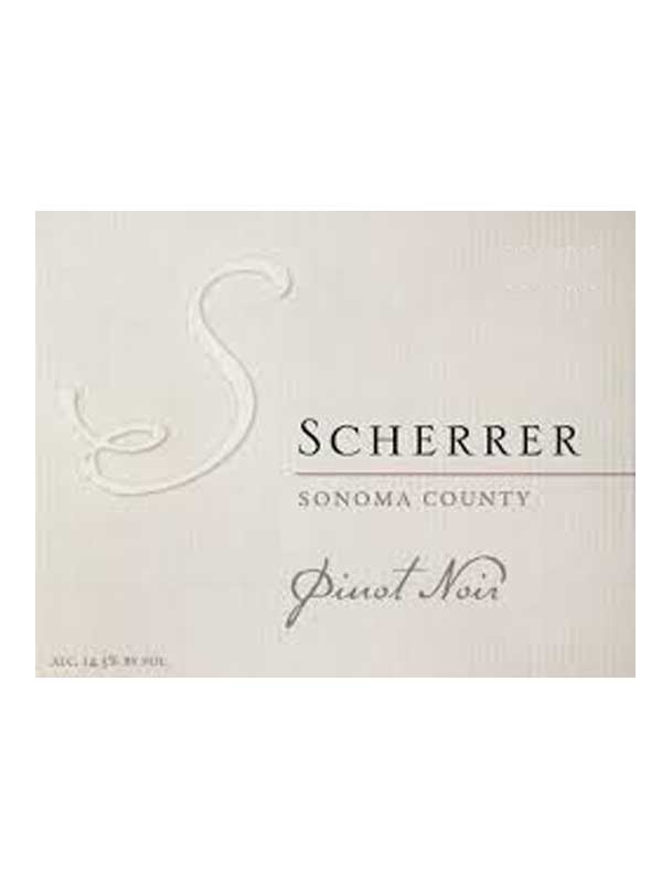 Scherrer Winery Pinot Noir Sonoma County 750ML Label